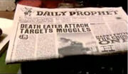 Daily Prophet on Death Eaters attack on Millennium Bridge