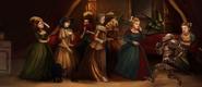 Obraz grupy kobiet w krynolinach