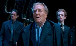 Cornelius Fudge voyant Voldemort