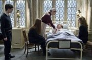Ron Weasley being admit on the Hospital wing