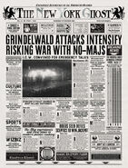 MinaLima Store - The New York Ghost – Grindelwald Attacks Intensify