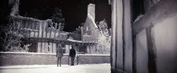 DH1 Hermione and Harry outside the Potter's house in Godric's Hollow