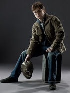 DH Harry Potter holding a Death Eater's mask 01