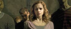 Hermione mourning Dumbledore