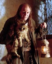 Filch + Mrs. Norris