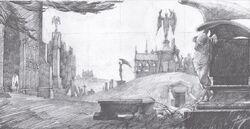 LittleHangletonGraveyard WB F4 SketchOfGraveyard Illust 080615 Land