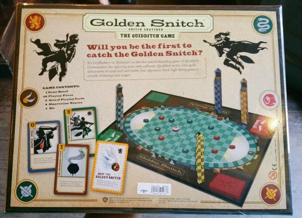 Golden Snitch - Snitch Snatcher - The Quidditch Game (real board game back)-MHP