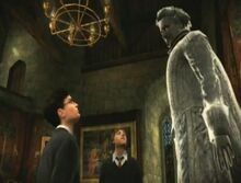 Harry and Ron talks to Nearly Headless Nick