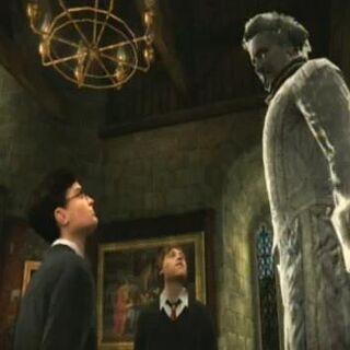 Николас разговаривает с Гарри и Роном