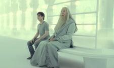Harry et Dumbledore dans les limbes