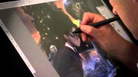 Jonny Duddle illustrating Harry Potter from J.K. Rowling's Harry Potter Books