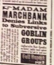 Статья о подаче в отставку мадам Марчбэнкс
