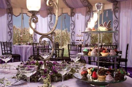 Close Up Look At Decorations For Bill Fleur S Wedding Reception Harry Potter 16298472 542 357 Jpg