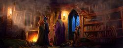 Dumbledore ucieka z Hogwartu pottermore