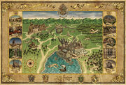 Mapa Hogwartu (Wizard's Collection) kolorowa