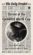 MinaLima Store - The Daily Prophet - Terror at the Quidditch World Cup