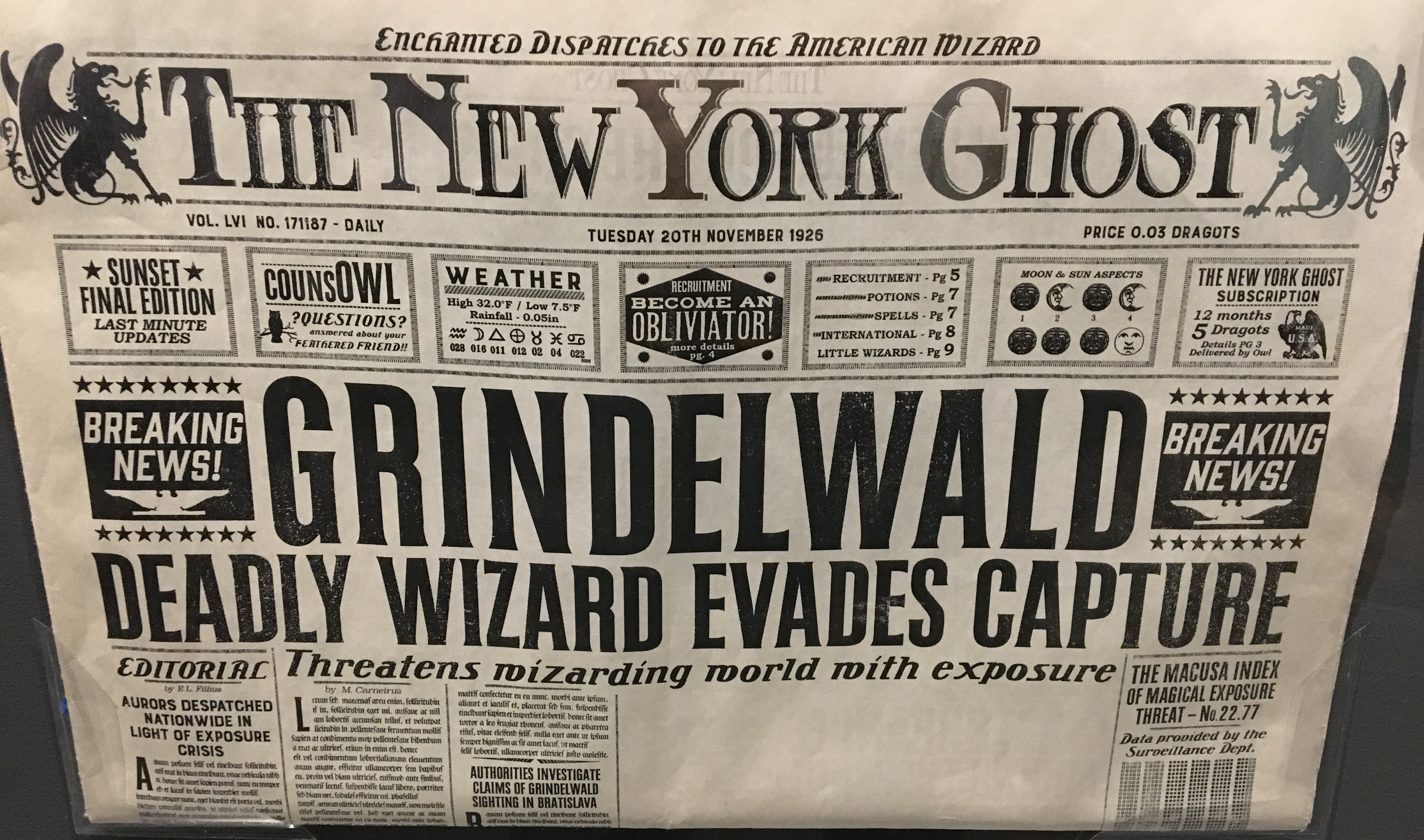 The New York Ghost Harry Potter Wiki