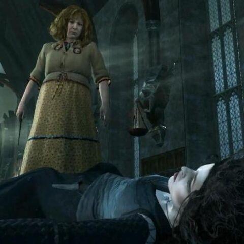 Молли Уизли убивает Беллатрису Лестрейндж в игре...
