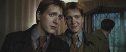 Fred and George before the battle of the seven Potters