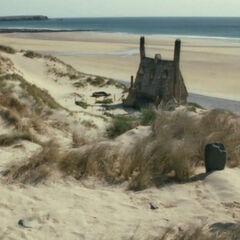 Гарри у могилы Добби
