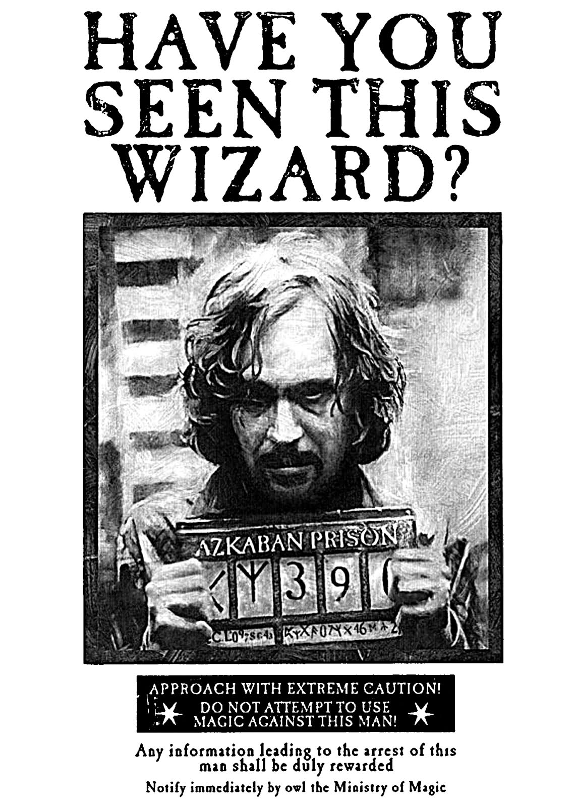 Sirius Black Wanted Poster  Funny Missing Person Poster