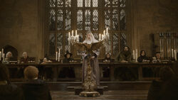 Dumbledore's speech at the Great Hall in 1996