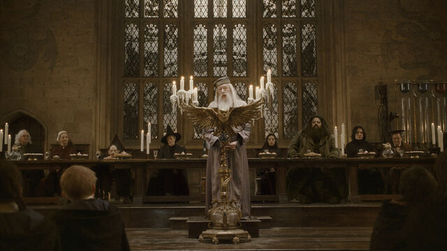 File:Dumbledore's speech at the Great Hall in 1996.JPG