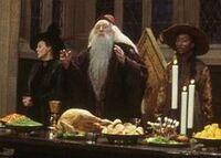 Sinistra, McGonagall e Dumbledore