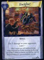 Backfire!(Harry Potter Trading Card)