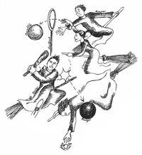 Joueurs et balles de Quidditch