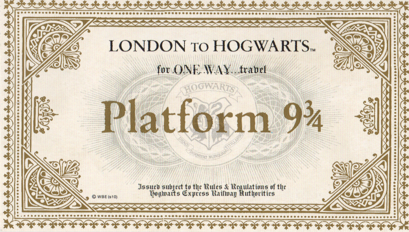 Image Hogwarts Express Ticket Harry Potter Wiki