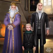 Albus Dumbledore, Draco Malfoy and Lucius Malfoy from Harry Potter Hogwarts Mystery