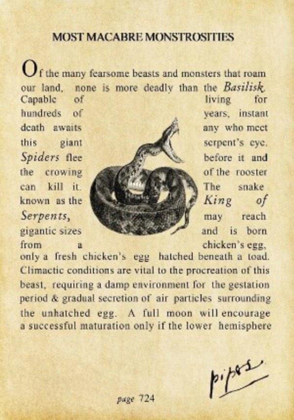Harry Potter Book Extract ~ Most macabre monstrosities harry potter wiki fandom