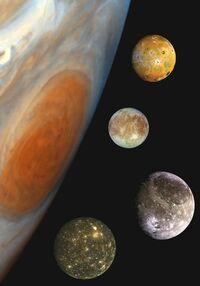 Júpiter e as luas galileanas
