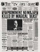 MinaLima Store - The New York Ghost – Prominent No-Maj Killed