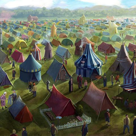 Палаточный лагерь на Чемпионате мира по квиддичу