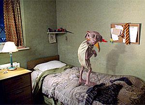 Dobby on Harry's bed