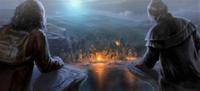 Hagrid i Maxime w kolonii olbrzymów