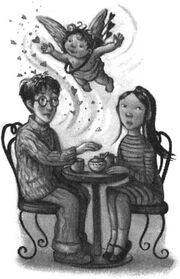 Гарри и Чжоу в кафе Мадам Паддифут