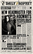 MinaLima Store - The Daily Prophet - New Headmaster for Hogwarts