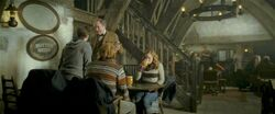 Harry-potter-half-blood-trio slughorn three broomsticks