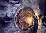 Door of the Chamber of Secrets (Concept Artwork for the HP2 movie 02)