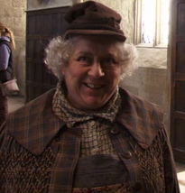 Miriam Margolyes as Pomona Sprout in Harry Potter and the Deathly Hallows Part 2