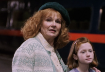 Molly and Ginny at King's Cross Station in 1991