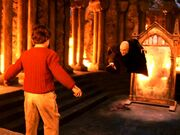 Quirinus Quirrell and Harry Potter at the Philosopher's Stone Chamber-1-