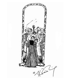 JKR Mirror of Erised illustration