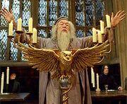 Dumbledoregreetsstudents