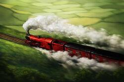 1.15 Hogwarts Express - Hogwarts Express Going through Countryside
