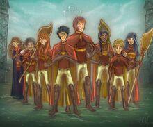 Gryffindor-quidditch-team-year-six