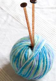 Yarn+needles